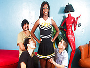 Jazzi Lai,  Eric Jover In Black Cheerleader Gang Bang #26,  Scene