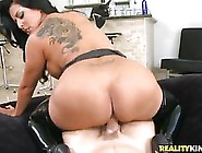 Big Titted Brunette With A Huge Ass Likes To Sit On Her Lover&#0