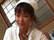 Beauty Japanese Nurse With Cute Smile Is Sucking Erection