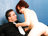 Natali Laroux Using Her Mouth And Pussy To Pass The Test