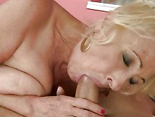 Nasty Grandma Gets Her Throat Stuffed With Cock