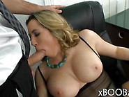 Busty Blonde Babe Loves Cock Too Much For Her Own Good