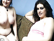 Two Fat And Hungry Lesbo Brunettes Give Nice Cunnilingus To Each