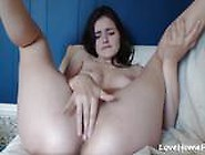 Lovely Girl Using Her Fingers To Masturbate For You