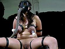 Tattooed Masked Dana Big Tits Getting Compressed In Bdsm Porn