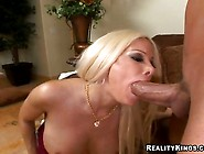 Big Boob Boss Gina Lynn Deepthroating A Massive Long Cock