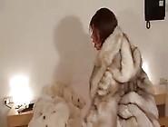 Brunette Girl Solo In Furs