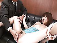 Japanese Short Haired Girlie Nonoka Kaede Opens Her Twat In Fron