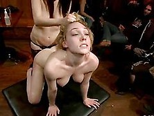 Pretty Blonde Girl Gets Tied Up And Fucked Rough In Public