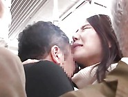 Asian Grab Ass In Jeans On The Train