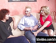 Two German Mature Slags Sucking Dick In Threesome