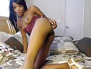 Petite Ebony Slut Fucks Herself