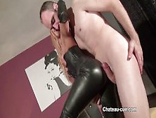 Cum For Princess Nikki Leather Pants