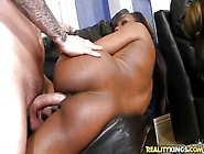 Sexy Ass Black Bitch Fucked By A Big White Cock