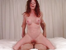 Raunchy Redhead Bounces Her Pussy On This Hard Dick