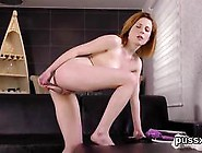 European Sweetie Loves Funny Fuck Toy And Sticks Huge Dildo In S