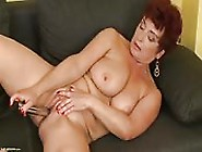 Mature Momma's Dildo Play For The Camera