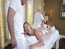 Giselle Palmer Sucks Cock Behind Her Mom's Back Joslyn James