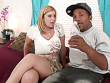 Cougar With Big Tits Gets Her Shaved Pussy Banged In An Interrac