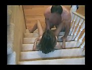 Cheating Busty Milf Fucked On Stairs From Sexdatemilf. Com