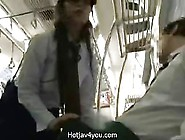 Japanese Police Women Give Public Blowjob With Cumshot On Her Be