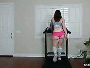 Getting Some Booty Exercise In On The Treadmill