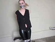 Captured Bound And Gagged Hottie,  Garage Bondage
