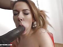 My Stepsister Gagging On Big Black Cock Gets Black Anal Fuck