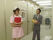 Asian Sexy Japanese Nurse Double Blowjob At Clinic