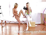 Cute Blonde Teen Swaps Cum With Casting Agent