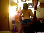 Cute Teen Dance And Strips On Webcam