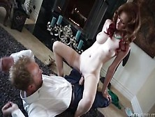 Redheaded Pinup Doll Dee Dee Lynn Needs Some Big White Cock