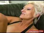 Naughty Granny Sucking Huge Black Cock