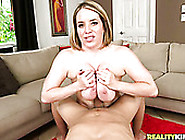 Chubby Blond Milf With Big Boobs Rides And Sucks Thick Penis