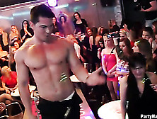 Drunk Sluts Get Turned On Playing With Male Strippers