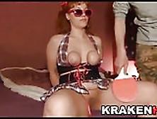 Krakenhot - Chubby Cheerleader In A Homemade Casting