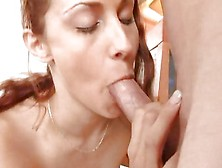 Amber Simpson Throat Fucks This Hard Throbbing Cock