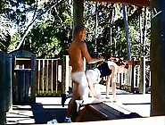 Wild Public Sex In The Park Outdoors Flashing Naked Cfnm