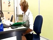 Sexy Secretary With A Super Short Skirt