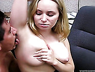 Naughty Blonde Seductress With Big Tits Gets Her Feet Worshipped