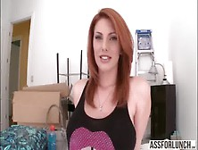 Super Hot Redhead Lilith Lust Shows Her Amazing Butt And Gets Fu