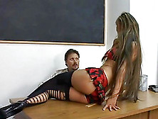 Seductive Teen Gets A Practical Sex Lesson From Her Horny Teache