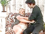 Blonde Granny Gets Fucked And Facialized By The Delivery Boy
