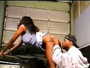 Black Slut Sucking A Big Cock In The Car