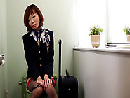 Sayuri Kotose In Horny Flight Attendant's Bathroom Break - Milfs