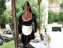 Your Busty Black Maid In Italy - Blowjob Handjob - Cum On My Tit