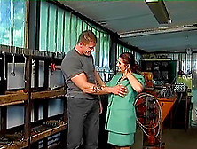 Randy Granny With Saggy Tits Pays The Mechanic With Kinky Sex