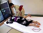 Busty Asian Woman In Kimono Massaged Getting Her Pussy And Tits