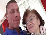 Ugly Horny Granny With Wet Twat Does Professional Blowjob