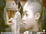 Krysta Kaos And Skin Diamond Pegged And In Ropes During Bdsm